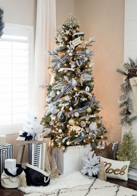 concept designs interior solutions black and white christmas tree